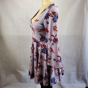 Kimchi Blue Dresses - 🟣2/$30🟣 Kimchi Blue Purple Blue Red Floral Dress